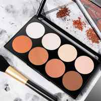 8-color Matte Makeup Setting Highlighter Powder Cake Repairing Palette Three-dimensional Shadow Decoration Concealer Powder