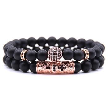 Bracelet Perle Noir Homme