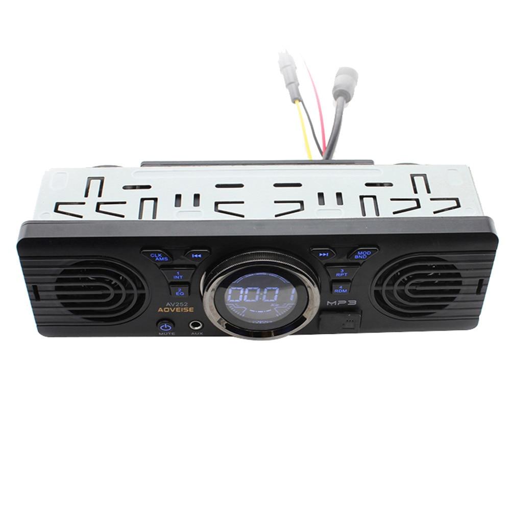 AOVEISE 12V car FM USB SD AUX IN audio stereo AV252 radio built in 2 speakers Bluetooth handfree in dash MP3 player