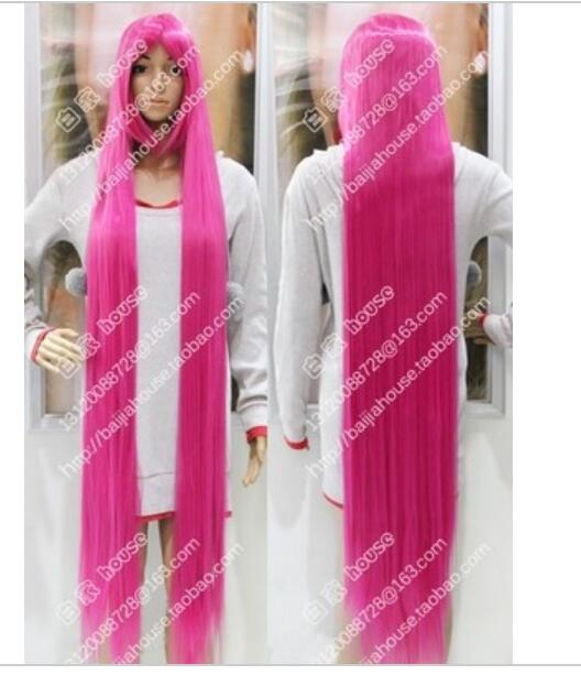 Suyushun344071 Cosplay Wig 60 Inches Meters The Pink Wig Long