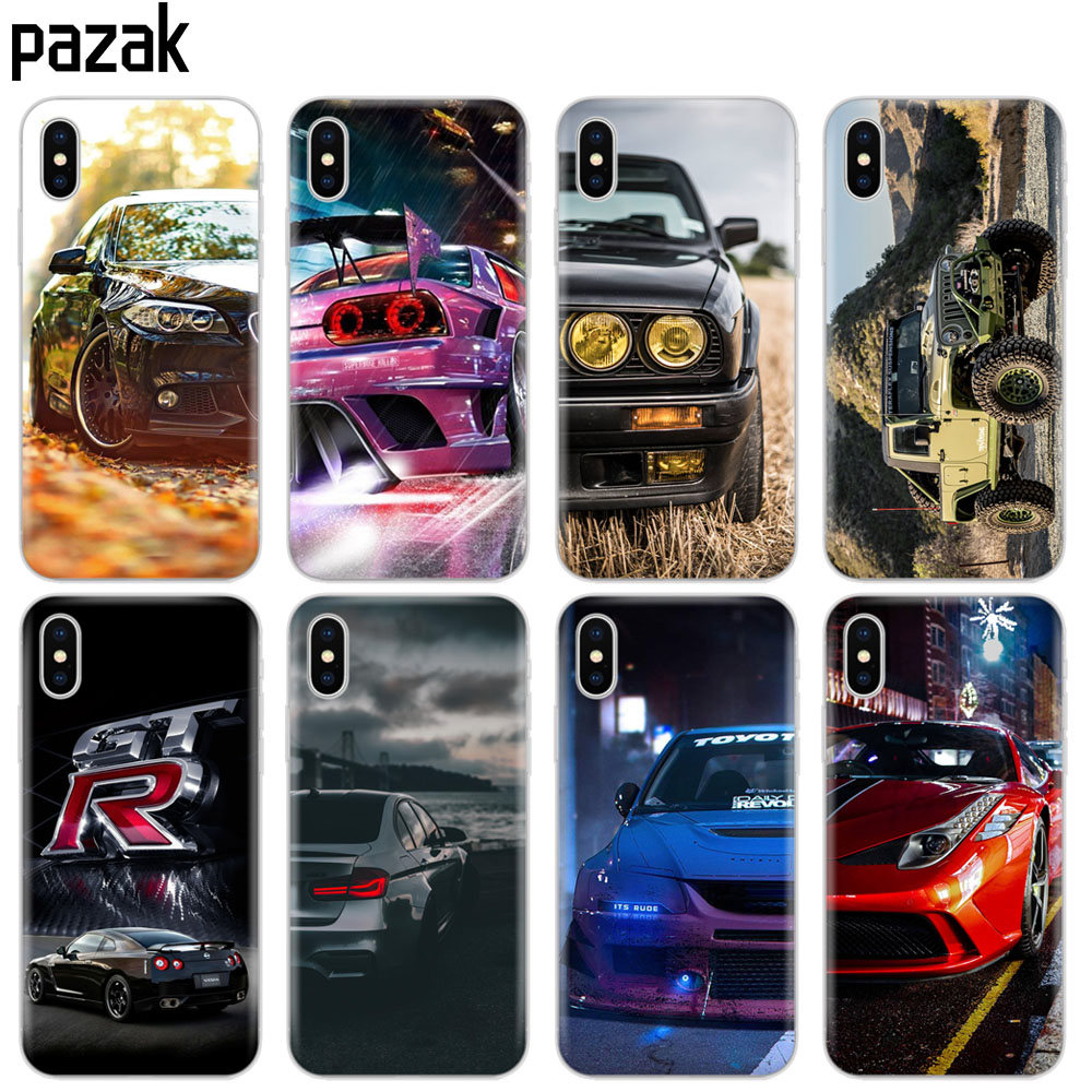 Silicone <font><b>Case</b></font> For <font><b>Iphone</b></font> xs max 6 X XS XR 8 7 <font><b>6s</b></font> 5 5s SE Plus 10 phone <font><b>Case</b></font> etui <font><b>bumper</b></font> soft tpu coque Cool sports car design image