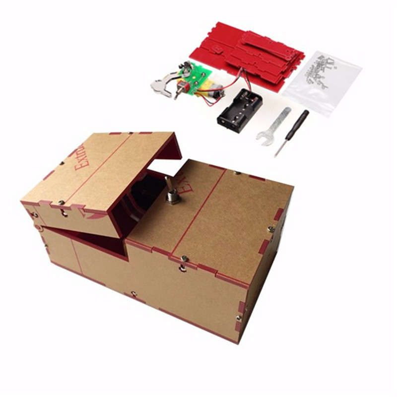 Us 9 74 47 Off Useless Box Diy Kit Useless Machine Birthday Gift Toy Geek Gadget Gags Joke Broad Game Tricky Toys Fun Office Home Desk Decor In Gags