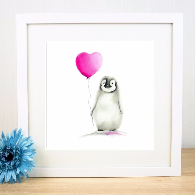 Sketch Zebra And Penguin Canvas Art Print Painting Poster Wall ...
