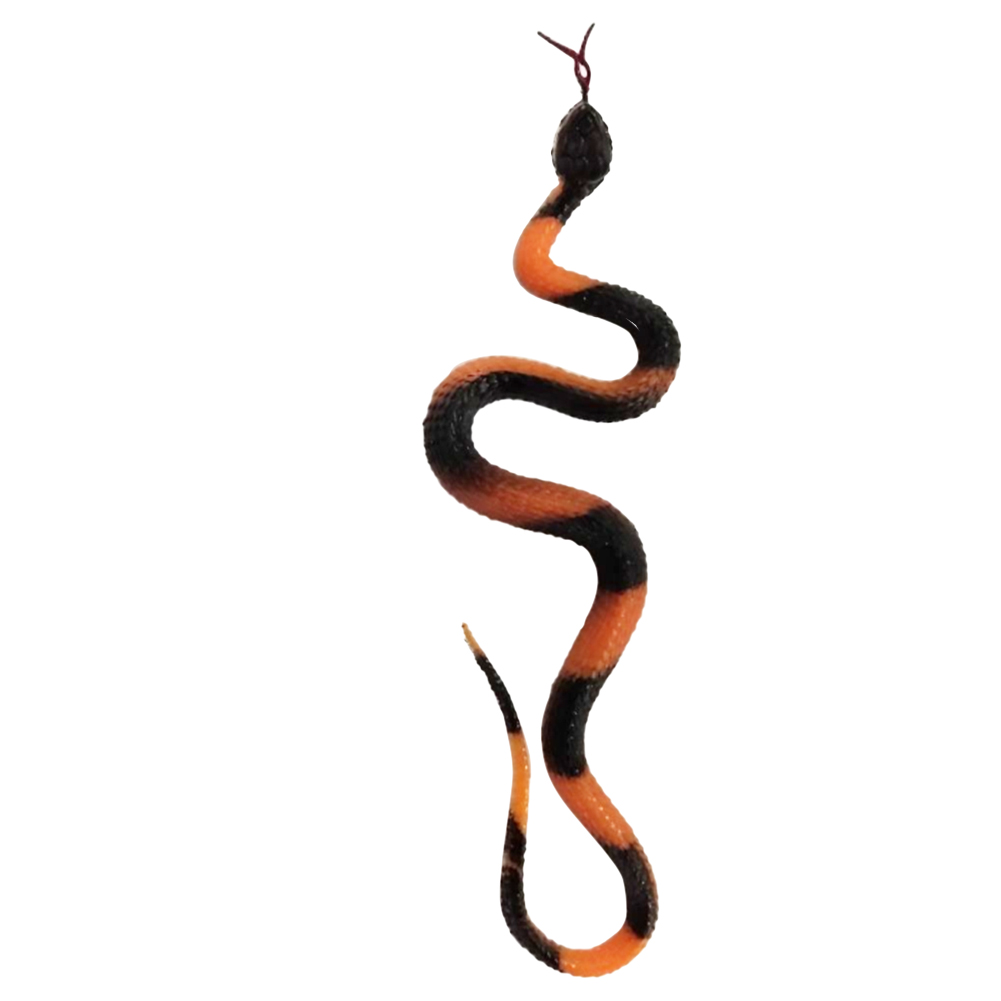 Simulation Rubber Snake Fake Artificial Rubber Faux Snake Model Toy Snake Fake Animal Gift Halloween Costume Party Supplie #0814