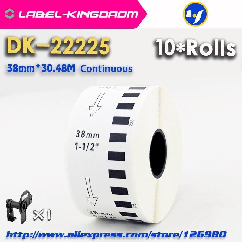 10 rouleaux de recharge générique DK 22225 étiquette 38mm * 30.48M continu Compatible pour imprimante d'étiquettes Brother couleur blanche DK 2225 DK22225-in Rubans encreurs from Ordinateur et bureautique on AliExpress - 11.11_Double 11_Singles' Day 1