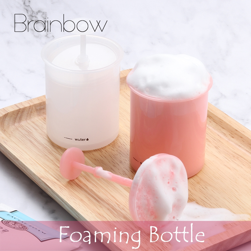 Brainbow 1Pc Foam Maker Cup Bubble Foamer Cleanser Foam Incredible Bubble Bottle Professional Whip Maker Facial Cleaning Tools