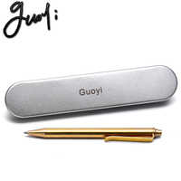 Guoyi Y088 новая медная шариковая ручка, обучающая офис для школы, канцелярские принадлежности, подарок, роскошная ручка для отеля, бизнеса, ручк...
