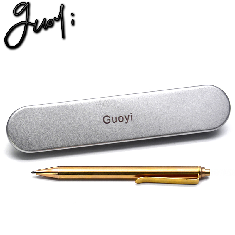 Guoyi Y88 copper material Press Latest styles Ballpoint pen Supplies metal High quality classic pen, Pencils & Writing Supplies latest styles autumn