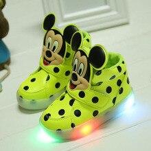 2017 Nova Marca de moda crianças sapatos de alta qualidade de iluminação vendas quentes frescos meninas monstro do bebê crianças botas meninos tênis casuais