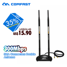 20dBi High Gain Wireless Antenna 2.4GHz RP-SMA 500M Coverage OMNI Wifi Antenna COMFAST CF-ANT2410DA for PCI Card Modem Router(China (Mainland))
