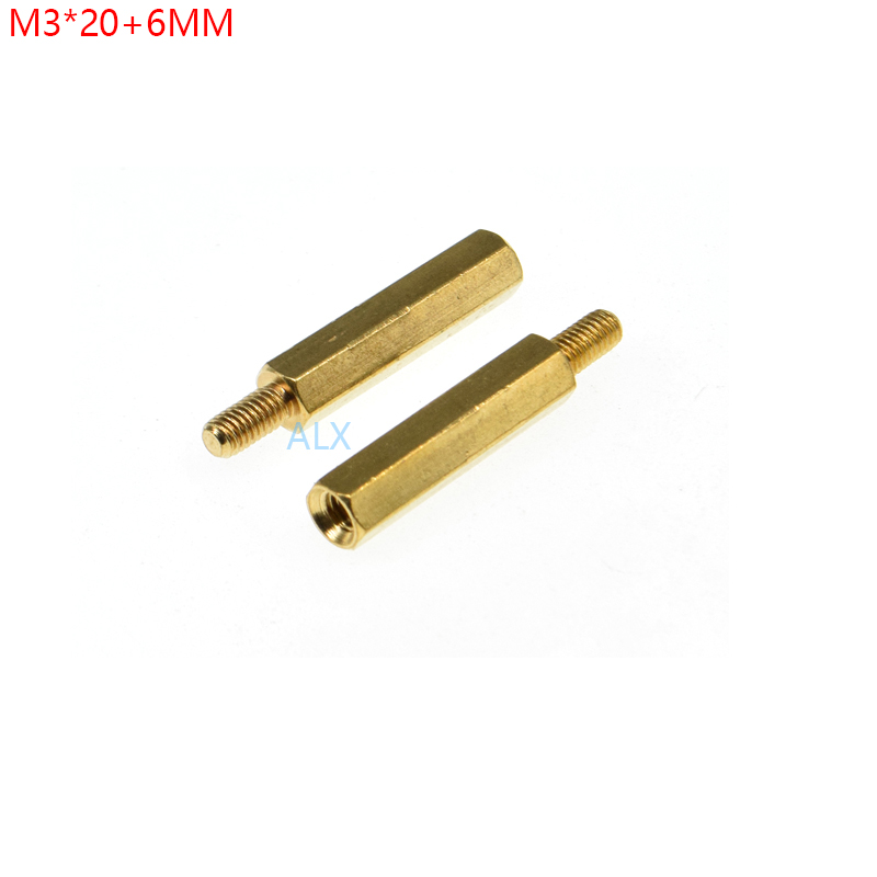 sourcing map 2pcs Shaft Coupling 3.5mm Bore 18mm Long Gold Tone Hexagon Coupler Connector w Screws Coupling Nuts