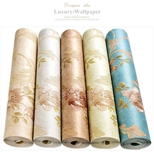Luxury Classic Wall Paper Home Decor Background Wall Damask Wallpapers Top Quality Floral Wallcovering 3D HD Wallpaper Bedroom european luxury 3d gold foil wallpaper 3d damask golden bedroom background wallpaper mural wall paper striped floral wallpaper