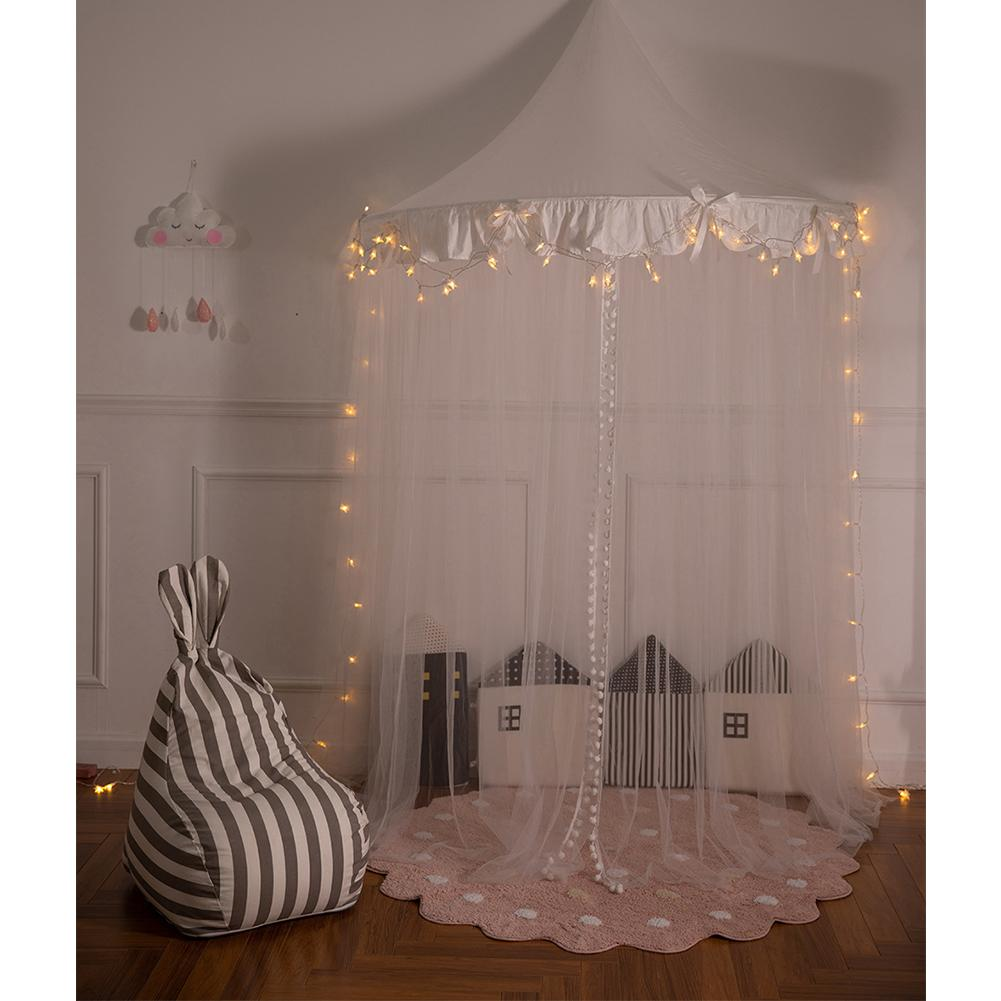Princess Girls Bed Canopy Children's Half Moon Bedroom Bedside Gauze Crib Netting Dome Castle Fairy Net For Kid Play Tent