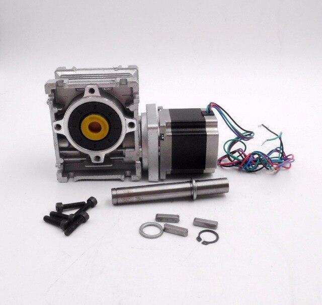 NEMA23 Worm Gear Stepper Motor RV30 Worm Reducer Ratio 20:1 High-Torque L56mm 3A For Decorating Machine