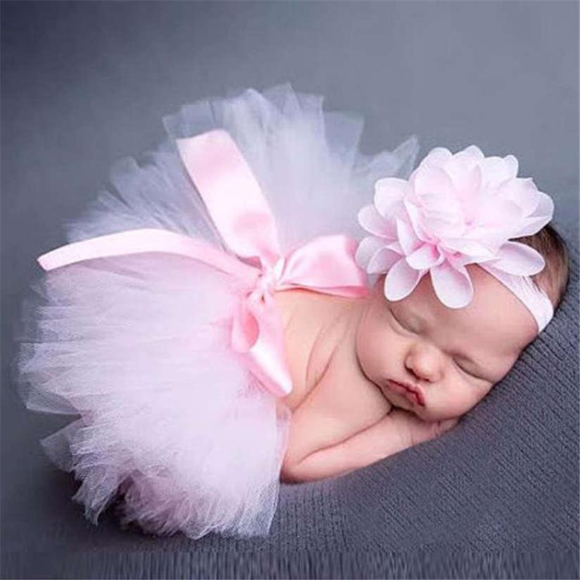 ROMIRUS-Newborn-Baby-Girls-Boys-Costume-Photo-Photography-Prop-Outfits-Princess-Skirt-Handmade-Crochet-Beaded-Cap-Headband-M3-5