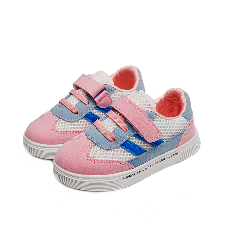 Student School Shoes Kids Sneakers Fabric Casual Shoes Boys Lace Up Breathable Solid Shoes Big Kids Footwear Protect Feet