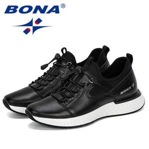 Image 3 - BONA 2019 nouveau populaire chaussures décontractées hommes en plein air baskets chaussures homme confortable à la mode hommes marche chaussures Tenis Feminino Zapatos
