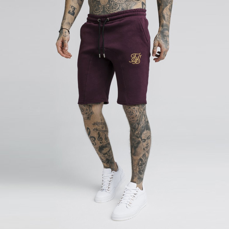 New Summer Sik Silk Men Short Gyms Slim Fit Bodybuilding Fashion Joggers Sweatpants Men Fitness Shorts Sportswear