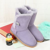 High Quality Snow Boots 100 Australian Natural Sheep Fur Fashion Snow Boots Warm Shoes Leather Boots