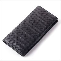 Sheepskin wallet men Genuine leather high quality long purse men Slim Wallet with card holder Black and Navy Blue