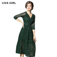 Liva Girl Brand Euro US Style Hollow Back Zipper Design Sleeveless Sexy Women Skirt Tight Fitting