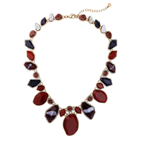2017 Unique Design Personality Geometry Gemstone Pendant Lady Necklace Women Jewelry Accessories