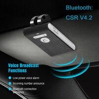 Siparnuo блютуз адаптер CSR V4.2 Bluetooth Handsfree Car Kit Беспроводной Bluetooth козырек от солнца клип громкой связи с Siri голосовой Управление SP08
