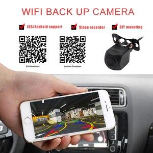 """Image 2 - CROSSSUNAI HD DVR אלחוטי Wifi ארה""""ב רכב מסגרת לוחית רישוי מצלמה גיבוי חניה הפוך מבט אחורי מצלמה רכב אבטחה"""