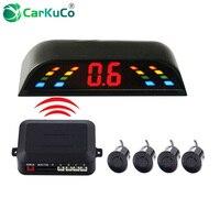 Auto Parking Assist LED Display 4 Sensors Wireless Parking Sensor Wireless Parking Sensors for Cars Wirless Reverse Backup Radar