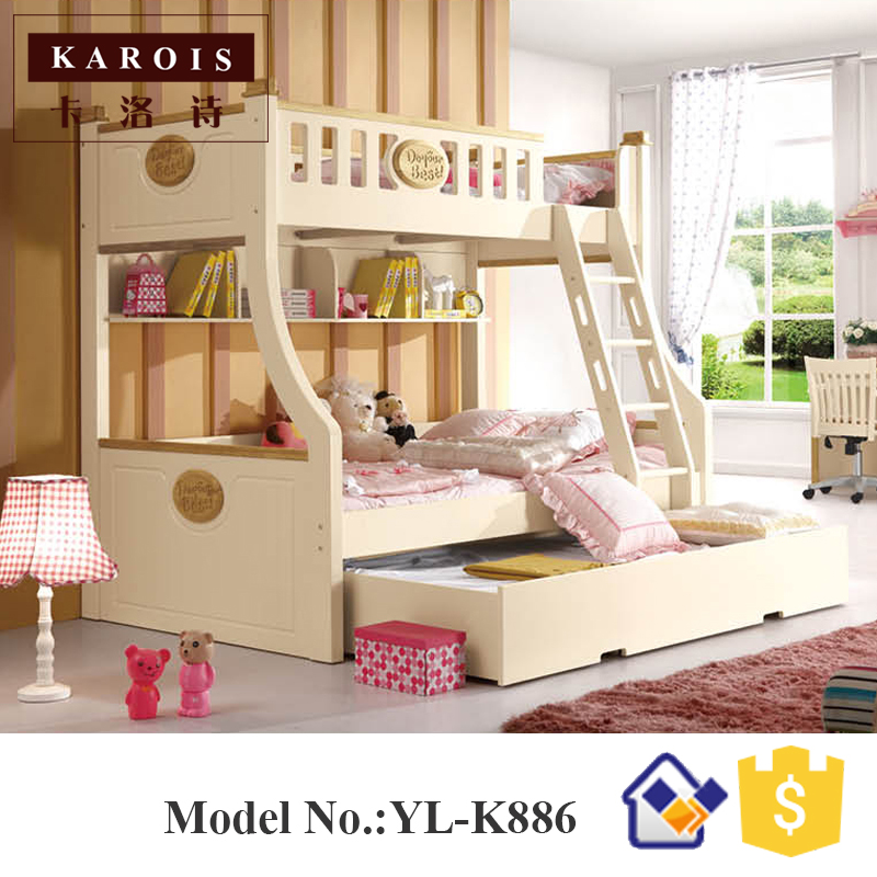 New style wooden kids bunk bed in children beds from for New style bed