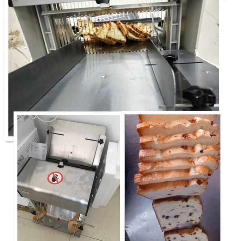 220 V multifunción eléctrica automática cortadora de pan comercial máquina de 31 piezas rebanadas de pan de plaza paquete brindis cortadora