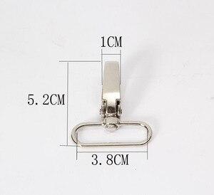 Image 2 - حقيبة أمتعة معدنية 5X3.2 قطعة/المجموعة من موديلات عام 100 ، خطاف مشبك على شكل كلب ، حقيبة تعليق على شكل جراد البحر ، أزرار سلسلة مفاتيح يدوية الخياطة ذاتية الصنع AU351