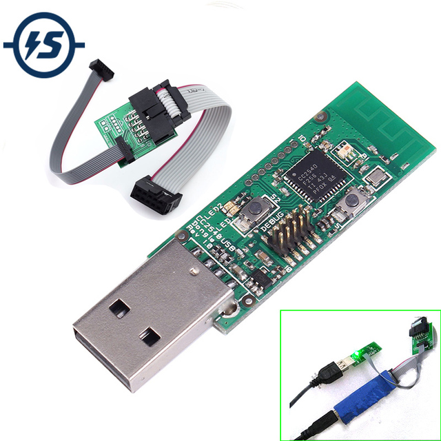 US $12 99 11% OFF|Bluetooth 4 0 BLE CC2540 USB Dongle Protocol Analysis  BTool Packet Sniffer Board+Downloader CableDownload Programming  Connector-in
