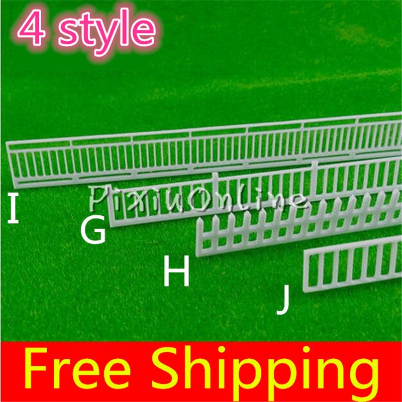 цены YL837 Fence Micro Landscape DIY Tool Part Fairy Garden Micro Dollhouse Plant Pot Decor Bonsai Simulation Train Railway Model