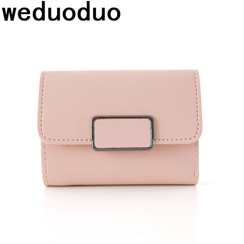 2018 New fashion women wallet hasp clutch purses female fold short money bag card holder high quality credit card holders