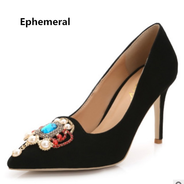 fee88fa87eb US $27.0 |Women Pumps Sexy Shoes Super High Heels Corduroy Environmental  Crystal Stilettos Zapatos For Wedding Party Plus Size 43 Europeal-in  Women's ...