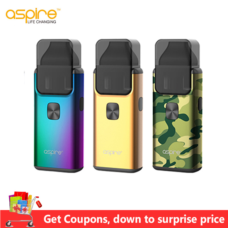 Original Aspire Breeze 2 AIO Kit With1000mAh Battery 2ml 3ml Breeze 2 Pod Atomizer Electronic Cigarette