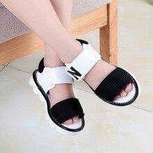 Zebo Summer Style Children Sandals Girls Princess Beautiful N phrase Shoes Kids Flat Sandals Baby Girls Roman Shoes Good Quality