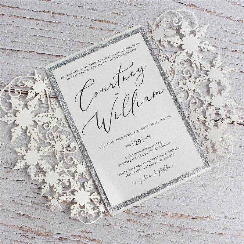 jolie carte d invitation de fete avec enveloppe paillettes argentees insert de bordure florale accessoires de decoration pour evenement