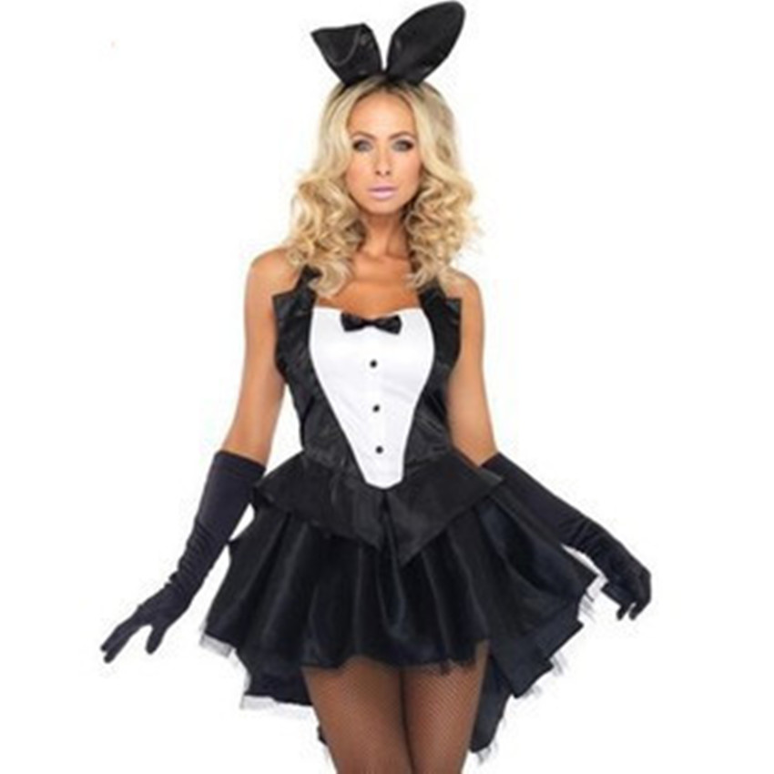 Perfect Jerry Bar New Polyester JUMPSUITS Bunny Girl Clothes Halloween Costumes For  Women Cosplay Stage Costumes Ds Led Dance Costume