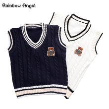 12d0e2fa3 Boys Sweater Autumn Winter Boy Knit Vest Thick Children Sleeveless Sweater  Waistcoat Kids V-neck
