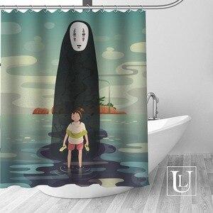 Image 1 - Bir yolculuk of Chihiro duş perdeleri özel banyo perdesi su geçirmez banyo kumaş Polyester duş perdesi 1 adet özel