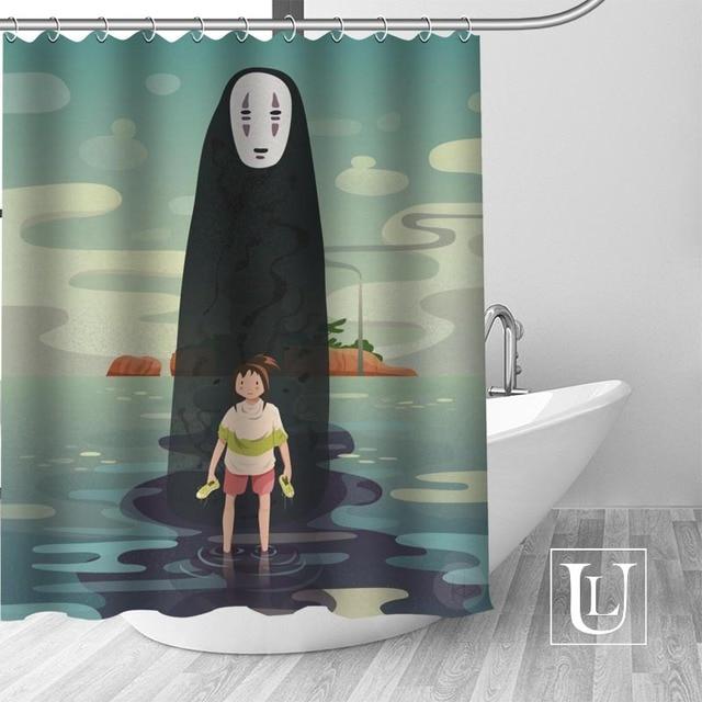 Bir yolculuk of Chihiro duş perdeleri özel banyo perdesi su geçirmez banyo kumaş Polyester duş perdesi 1 adet özel