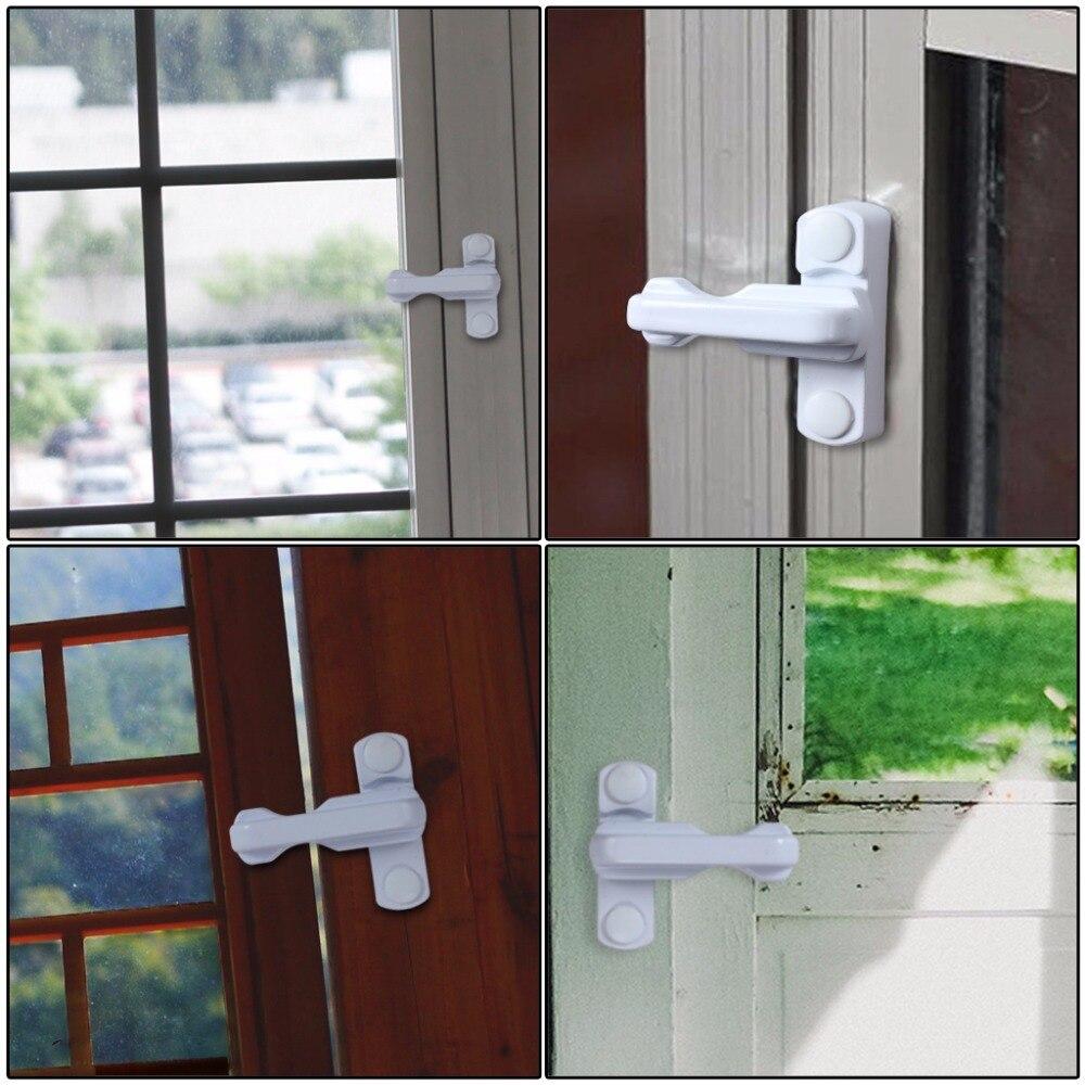 Home Security Window Door Restrictor Sash Jammer with Lock ComfoRED Brown