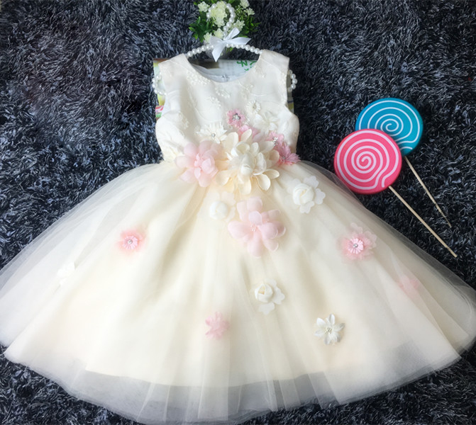 Y02-X018 Children's kid's girls Princess flower  Dress Summer Wedding Birthday Party Dresses Costume sleeveless champagne color в волгограде ваз приора 21723 02 018