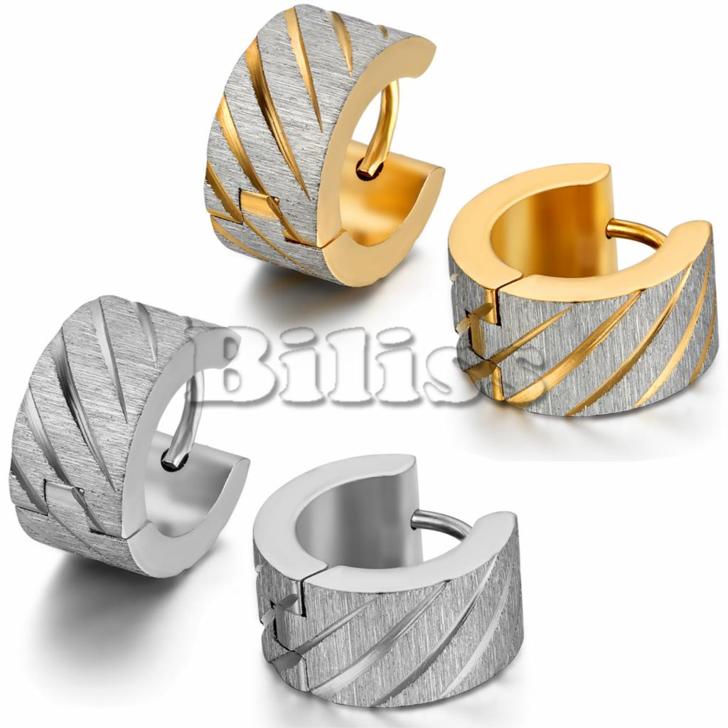 Mens Gold Huggie Earrings