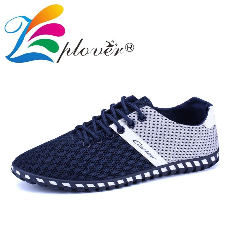 여름 통기성 메쉬 신발 남성 캐주얼 신발 2018 새로운 - 남성용 신발