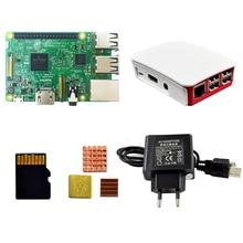 Usb-Cable Case Heat-Sink Micro-Sd-Card Raspberry Pi Eu-Power-Plug 3-Model 3-Kit 16G