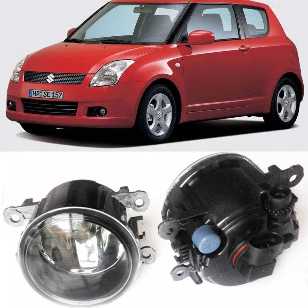For Suzuki SWIFT 3 MZ EZ Hatchback  2005-2015 Car styling Fog Lamps halogen Fog lights 1SET for suzuki sx4 gy hatchback 2006 2012 car styling fog lamps halogen fog lights 1set