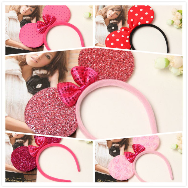 Mickey Minnie Headband Cute Elsa Mouse Ear Hair Band Small Mouse